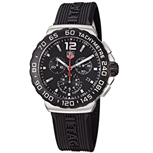 TAG Heuer Men's CAU1110.FT6024 Formula 1 Black Dial Black Rubber Strap Quartz Watch by TAG Heuer