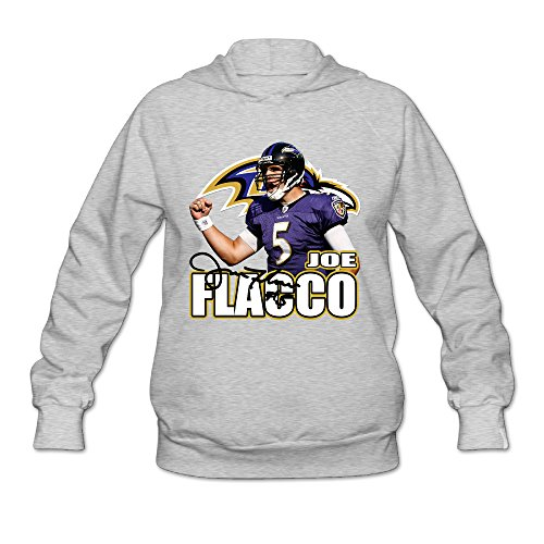 AK79 Women's Hoodies Baltimore #5 Joe Flacco Football Size S Ash (Jack Daniels Iphone 5 Case compare prices)