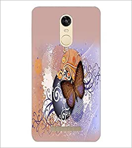 PrintDhaba Butterfly D-2073 Back Case Cover for XIAOMI REDMI NOTE 3 MEDIATEK (Multi-Coloured)