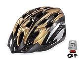 D'Kotte スタイリッシュ! 軽量! 自転車用 サイクリング ヘルメット 色選択できます! (金/黒)