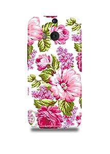 Pink Vintage Roses Floral Pattern HTC M9 Plus Case
