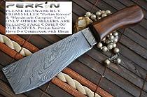 Custom Damascus Hunting Knife - Machete