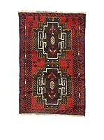 L'Eden del Tappeto Alfombra Beluchistan Rojo / Multicolor 85 x 130 cm