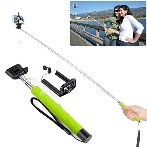 selfie stick cable take top mobile holder for iphone 4 4s 5 5s 6 6 ebay. Black Bedroom Furniture Sets. Home Design Ideas
