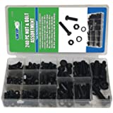 Grip-On-Tools 43164 Metric Nut and Bolt Kit, 240 Pieces
