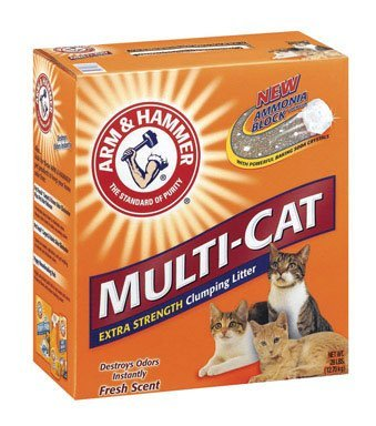 Arm and Hammer Clumping Cat Litter, Multi-Cat Strength, 28 Pound Box