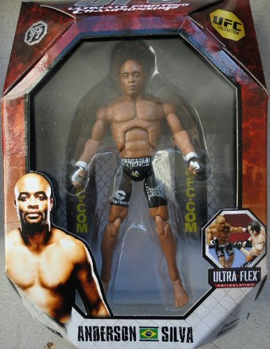 Buy Low Price Jakks Pacific UFC Anderson Silva Deluxe Action Figure 2 (B004I5XBEK)