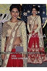 Designer RED SILK Bollywood Replica Lehenga Choli.