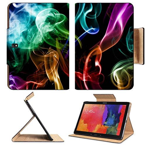 Smoke Rainbow Color Abstraction Creative Samsung Tab Pro 12.2 Flip Case Stand Smart Magnetic Cover Open Ports Customized Made To Order Support Ready Premium Deluxe Pu Leather Luxlady Professional Graphic Background Covers Designed Model Folio Sleeve Hd Te front-1006198
