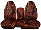 1998 to 2003 Ford Ranger 60/40 Truck Seat Covers Dawn Tree Camouflage. Console Cover with Cupholder Opening Included