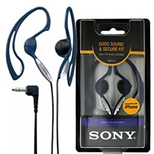 Sony MDR-J10 H.Ear Headphones with Non-Slip Design (Blue)