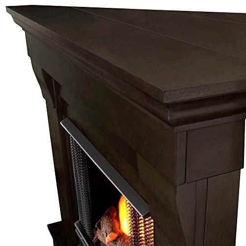 Chateau Corner Gel Fireplace in Dark Walnut