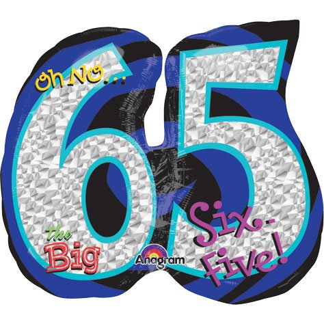 "Anagram International Oh No It's My Birthday 65 Balloon, 27"", Multicolor - 1"