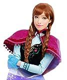 アナと雪の女王 アナ コスプレ 衣装 ウィッグ( 耐熱ウィッグ + ウィッグネット2種 + ウィッグスタンド + オリジナル特典 ) c319aw