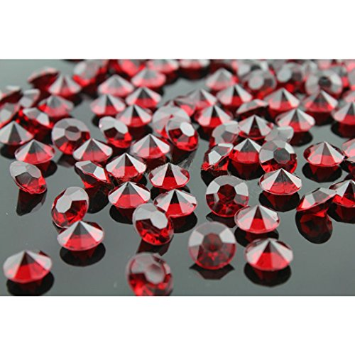 Joylive 2000pcs 4.5mm Wedding Decoration Scatter Table Crystals Diamonds Acrylic Confetti (Red)