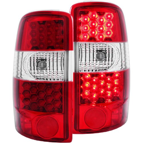Anzo Usa 311001 Cadillac/Chevrolet/Gmc Red/Clear Led Tail Light Assembly - (Sold In Pairs)