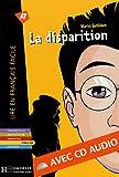 echange, troc Muriel Gutleben - La disparition (1CD audio)