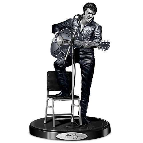 [Elvis Presley '68 Comeback Platinum Edition Sculpture: A Collectibles First by The Hamilton] (Official Elvis Presley Microphone)