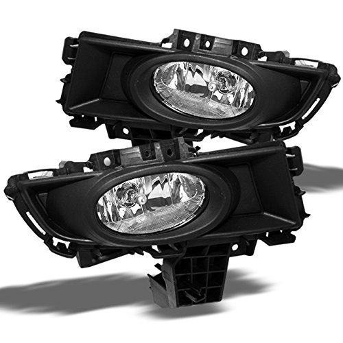 Mazda 3 Mazda3 Sedan Bumper Driving Clear Fog Lights Driver/Passenger Lamps with Bulbs/Switch (Mazda 3 Fog Lamp compare prices)