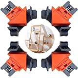 Boloniprod 4Pcs Bar Clamps Angle Clamps Spring Clamp 90 Degree Right Angle Clip Clamps Multi-Function Angle Clamps,Adjustable Swing Angle Clamp,Photo Framing,Glass Holder