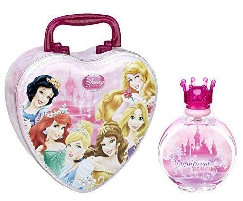 Disney Princess/Principesse/dono-impostato: CUORE-valigia di metallo + Eau de Toilette (profumo) spruzzare 100 ml - per bambini