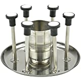 Aakar Kitchen Stainless Steel Decorative Tumbler Stand - 20 Cm X 19 Cm X 13 Cm, Silver