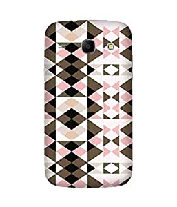 Pink Brown Pattern Samsung Galaxy Core I8260 Case
