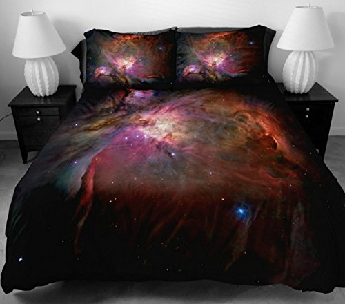 Anlye The Gift Ideas For Women Bedding Set 2 Sides Printing Design Style Of The Brown Out Space Bed Sheets With 2 Body Pillow Cover Full front-974033