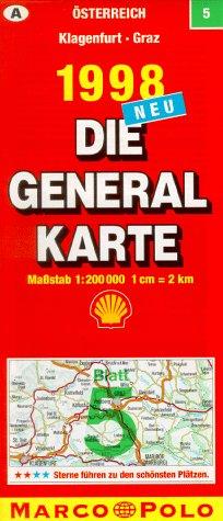 Generalkarte Österreich 5. Klagenfurt, Graz.