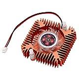 Copper Plated 55mm 2 Pin VGA Video Card Heatsink Cooler Cooling Fan