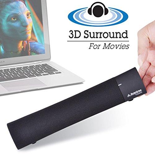 Torpedo 10W Premium Wireless Soundbar, DSP Technologie, Bluetooth Lautsprecher für iPad, Laptop, Mac, Tablets, Super Bass & 3 Sound Effekte