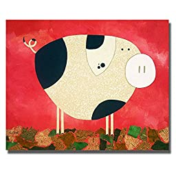 Pig Newton by Casey Craig Premium Gallery-Wrapped Canvas Giclee Art (Ready-to-Hang)