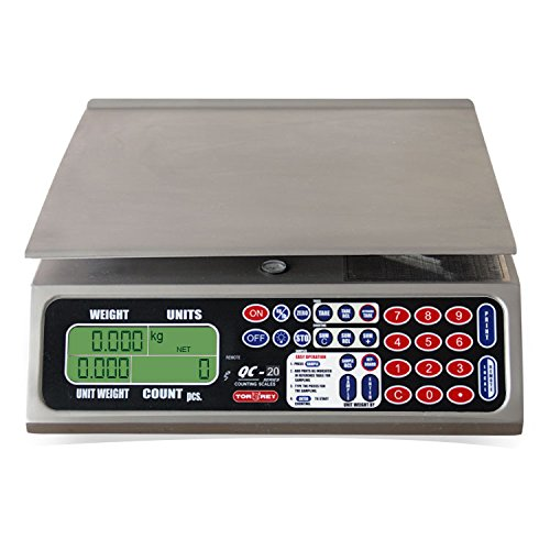 Torrey Qc 20/40 Electronic Tabletop With Lcd Display And Backlight, 40 Lb, 50 Tare Weight Memories