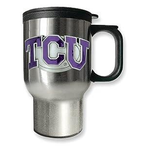 Texas Christian University 16oz Stainless Steel Travel Mug