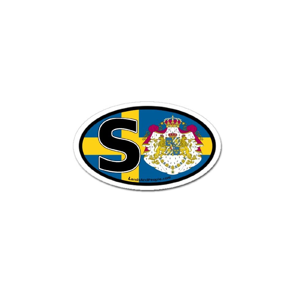 Sweden S Swedish Flag Car Bumper Sticker Decal Oval