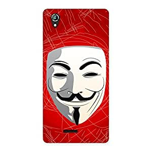 Stylish Red Anonymous Mask Back Case Cover for Lava Iris 800