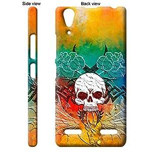 TGK™ Abstract Art Scary Skull Tattoo 22nd Design Back Cover Case for Lenovo A6000 Plus - Multicolor