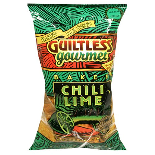 Buy Guiltless Gourmet Baked Chili And Lime Tortilla Chips, 7-Ounce Unit (Pack of 12) (Guiltless Gourmet, Health & Personal Care, Products, Food & Snacks, Snacks Cookies & Candy, Snack Food, Chips, Tortilla Chips)