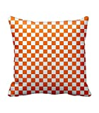 Chocolate Seamless Square Pattern Cushion Cover