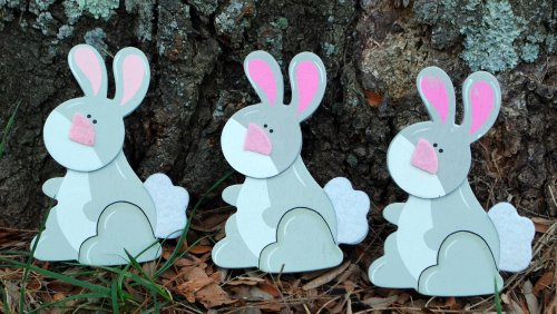 Felted Bunny Quilt Clips - Set/3