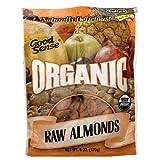 Good Sense Organic Raw Almonds, 6-Ounce Bag (Pack of 3)