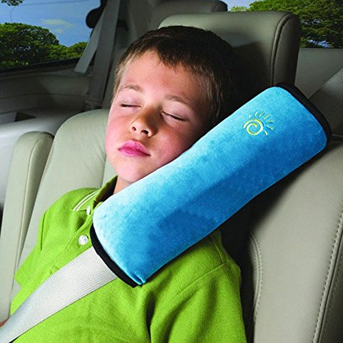 AutoLover Children Car Seat Belts Shoulder Protection Back Cushion Soft Neck Sleep Pillow Vehicle Headrest Harness Pad(BLUE) (Seat Belt Harness Pads compare prices)