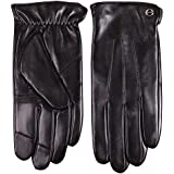 ELMA Men's Touchscreen Texting Winter Nappa leather Gloves lined for Iphone Ipad Smart Phone