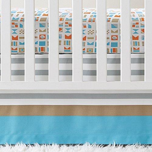 Serena and Lily Nautical Flag Crib Skirt