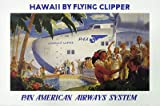 "VINTAGE Pan American Aviation plane Poster ""Hawaii By Flying Clipper Pan American Airways"" by Frank Mackintosh"