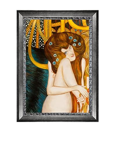 Gustav Klimt's Beethoven Frieze Framed Hand Painted Oil Canvas, Multi, 44″ x 32″