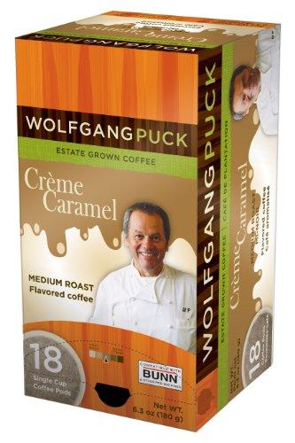 Wolfgang Puck Coffee, Creme Caramel, 18 K-Cups for Keurig Brewers