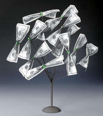 One Dollar Origami Flower