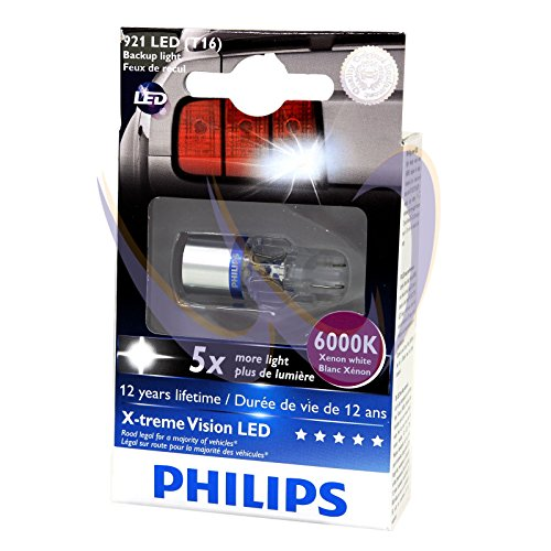 Philips 12832 X-Treme Vision Led 6000K 12V Xenon White Backup Light, Pack Of 1