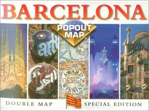 BARDELONA-POPOUT-MAP-By-Compass-Maps-Staff-Mint-Condition